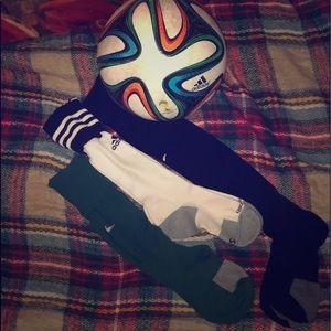Nike and Adidas Soccer Socks